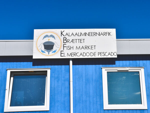 Tienda en Narsaq en Groenlandia