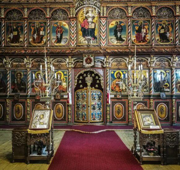 Iconostasis de la iglesia ortodoxa de Bansko en Bulgaria