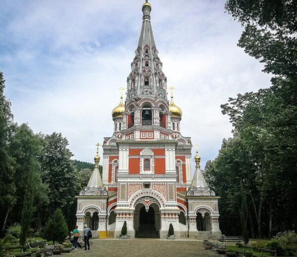 Iglesia ortodoxa rusa de Shipka en Bulgaria