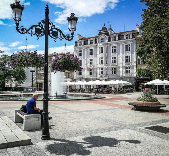 Rincón del centro urbano de Plovdiv en Bulgaria