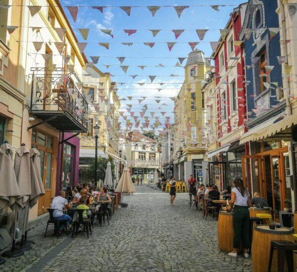 Barrio Kapana en Plovdiv en Bulgaria