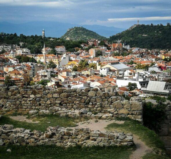 Restos de la muralla de Plovdiv en Bulgaria