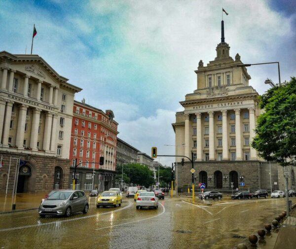 Rincón del centro de Sofía en Bulgaria