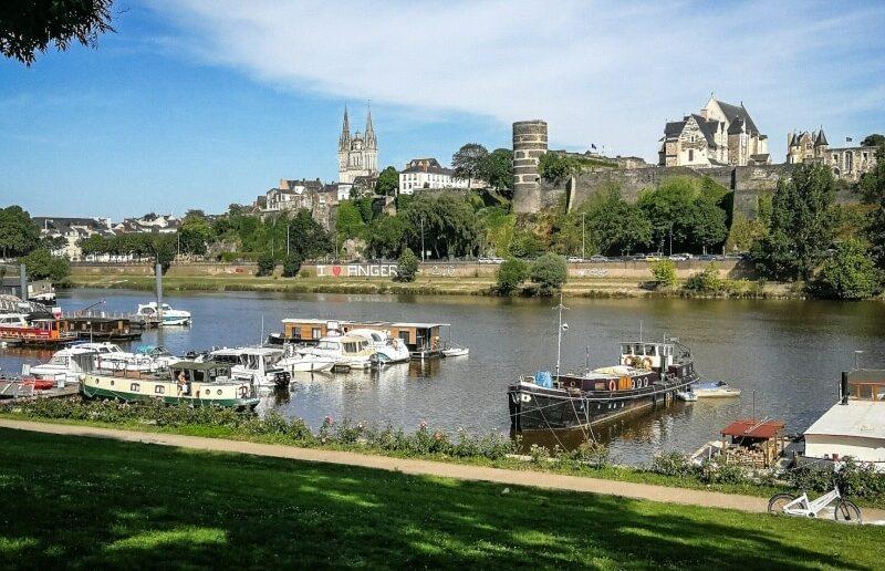 Angers en el Valle del Loira al oeste de Francia