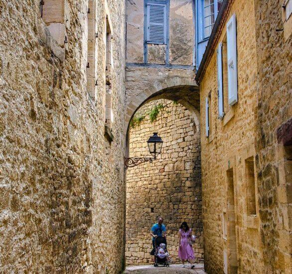 Sarlat en Perigord Negro en la Dordoña de Francia