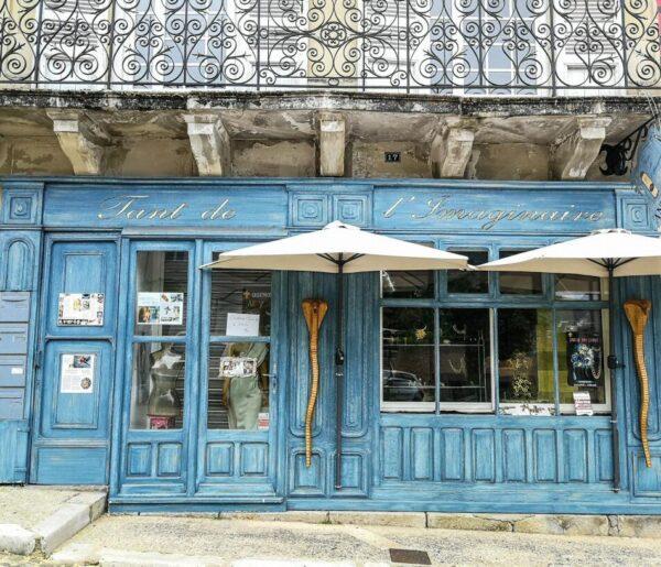 Echoppe de una tienda de Terrason en Perigord al suroeste de Francia