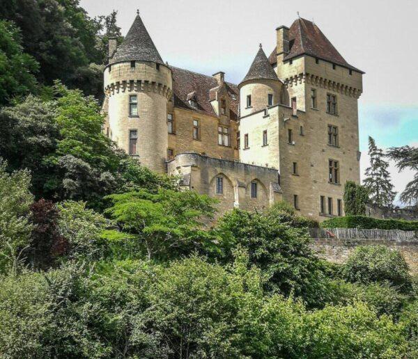 Casa señorial en La Roque Gageac en Perigord en Francia