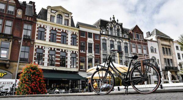 Rincón del centro histórico de La Haya en Holanda