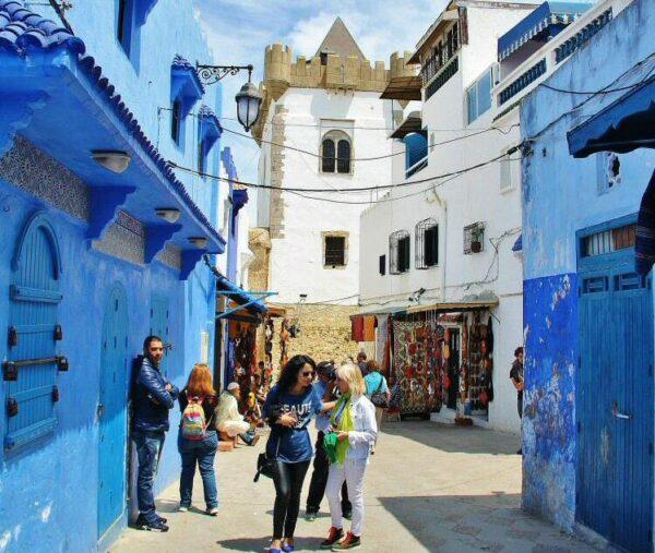 Rincón de la medina de Asilah al norte de Marruecos