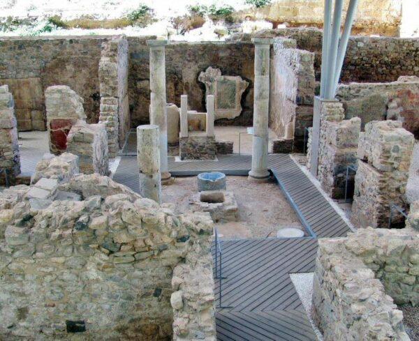 Restos arqueológicos del antiguo foro romano de Cartagena
