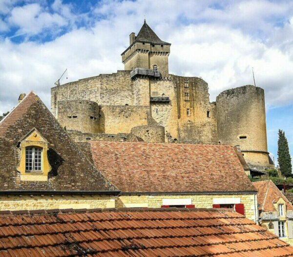 Castillo de Castelnaud la Chapelle en Perigord en Francia