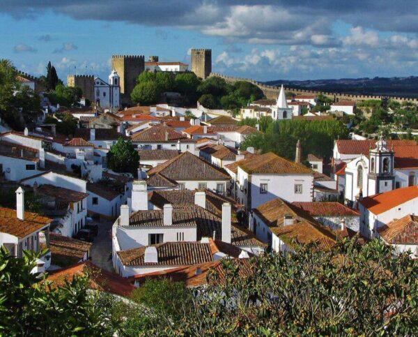 Obidos cerca de Lisboa en Portugal