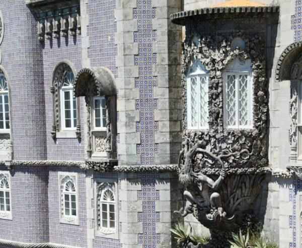 Ventana El Tritón en palacio da Pena de Sintra