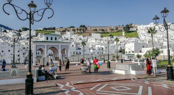 Plaza en Tetuán al norte de Marruecos