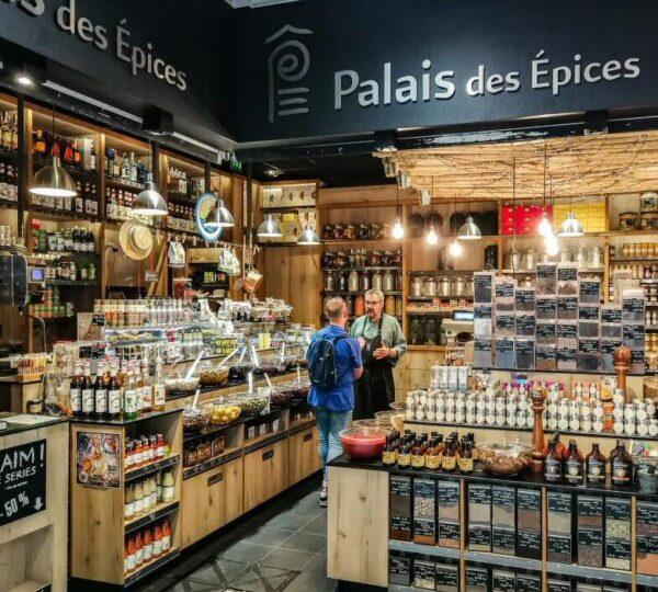 Mercado de Halles en Tours en Valle del Loira