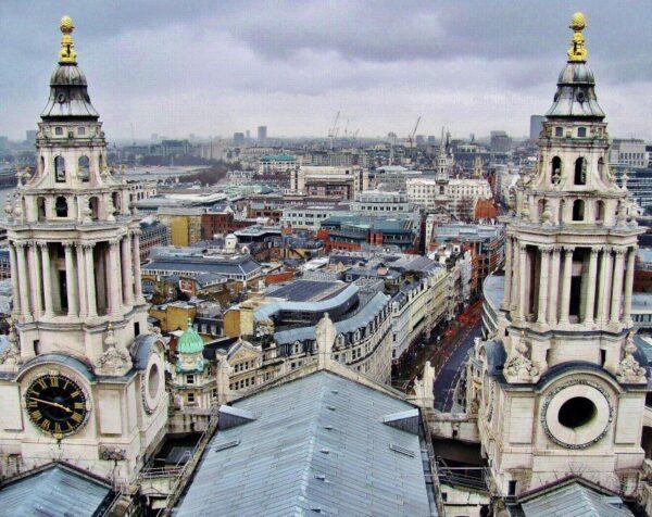 Vistas de Londres desde la cúpula de la catedral de San Pablo