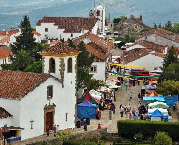 Feria medieval en Marvao en Alentejo de Portugal