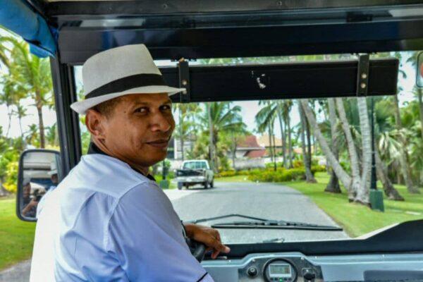 Vehículo eléctrico en el Grand Palladium Hotels & Resorts en Punta Cana