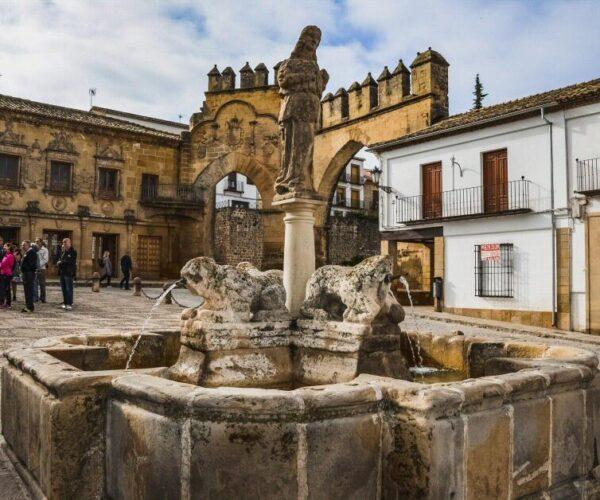 Fuente de los Leones en Baeza en Jaén