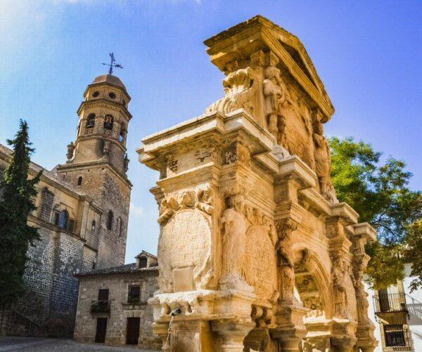 Fuente de Santa María en Baeza en Jaén