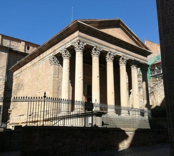 Templo romano de Vic en Barcelona