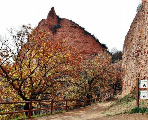 Paisajes otoñales en Las Médulas en el Bierzo en León