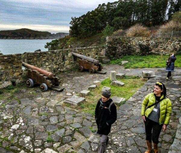 Fortaleza de Cedeira cerca de Ferrol en Galicia