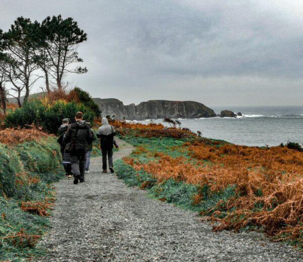 Ruta de Punta Sarridal en Cedeira cerca de Ferrol