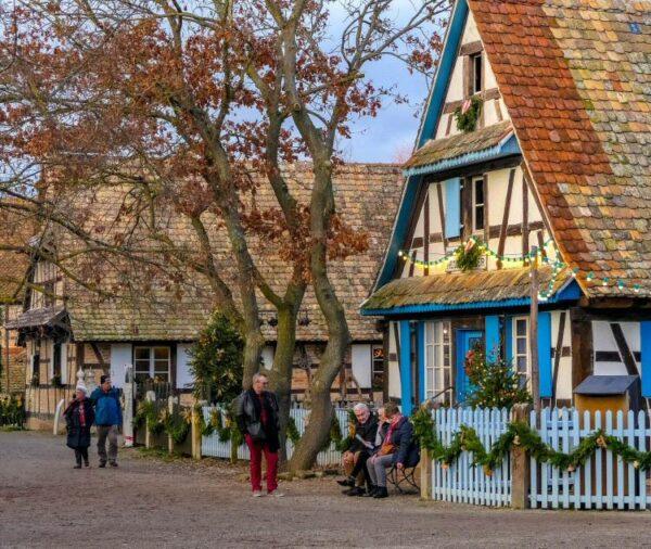 Ecomuseo de Alsacia en Ungersheim cerca de Mulhouse en Francia