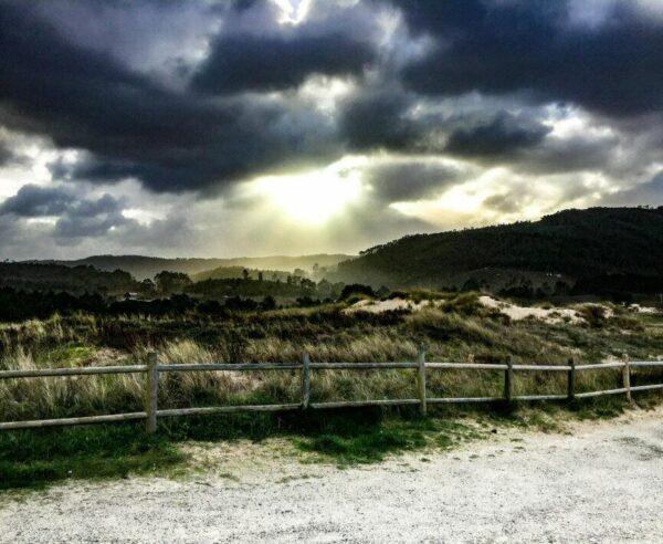 Playa de Esmelle cerca de Ferrol en Galicia