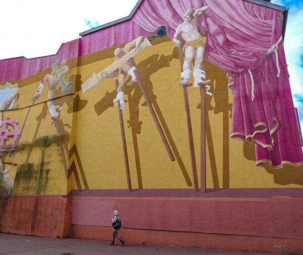 Arte urbano en un edificio de Mulhouse