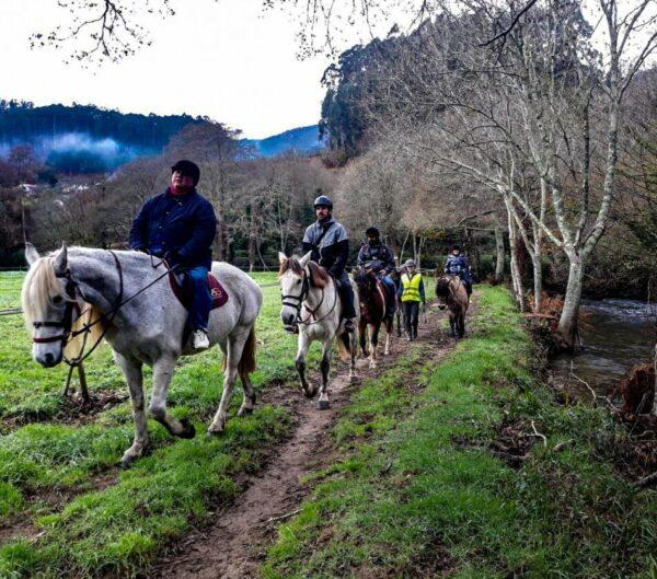 Paseo a caballo por Ortigueira cerca de Ferrol