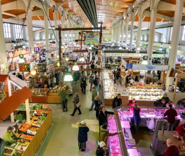 Mercado de Mulhouse en Alsacia