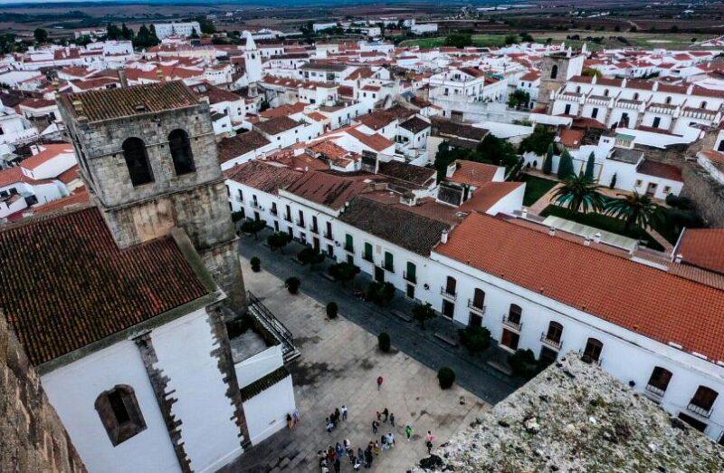 Olivenza desde la Torre del Homenaje en la provincia de Badajoz