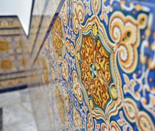 Azulejos de estilo manuelino en Olivenza en Extremadura