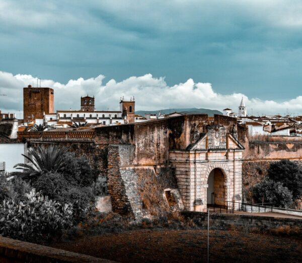 Murallas de Olivenza en la provincia de Badajoz en Extremadura