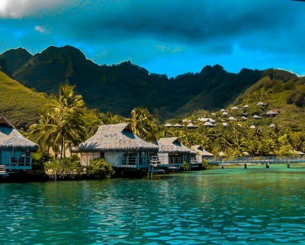Paisaje de la isla de Moorea en Polinesia Francesa