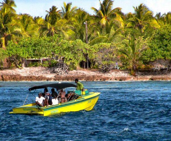 Excursión en Rangiroa en Polinesia Francesa