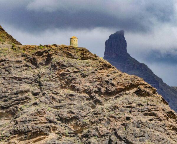 Mirador del Molino y Roque Bentayga en Gran Canaria