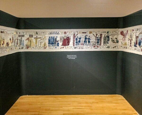 Tapiz de Juego de Tronos en el museo del Ulster en Belfast