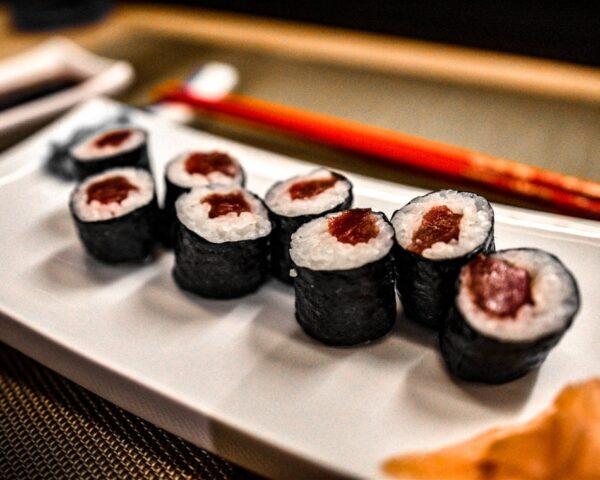 Sushi en el restaurante Narumi del Hard Rock Hotel Tenerife
