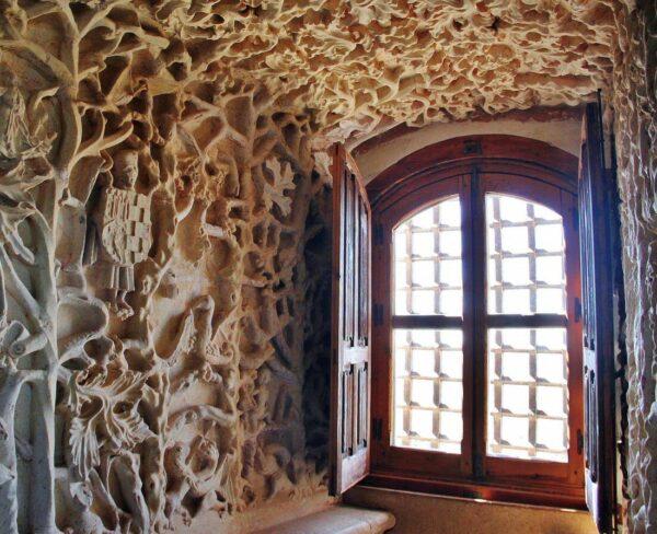 Decoración interior del castillo de Belmonte en Cuenca