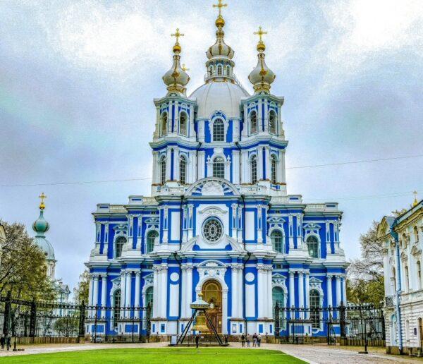 Catedral Smolny en San Petersburgo