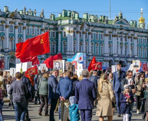 Día de la Victoria en la Segunda Guerra Mundial en San Petersburgo