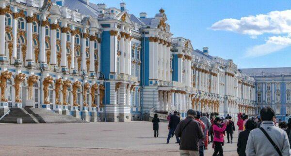 Palacio de verano Pushkin en San Petersburgo