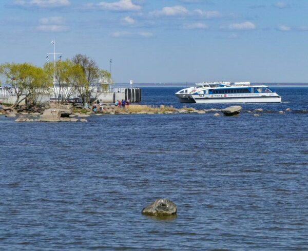 Hydrofoil para ir al palacio Peterhof en San Petersburgo