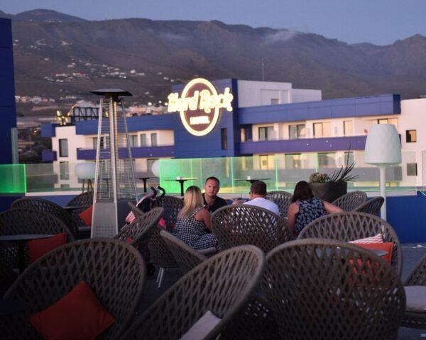 Terraza en Hard Rock Hotel Tenerife