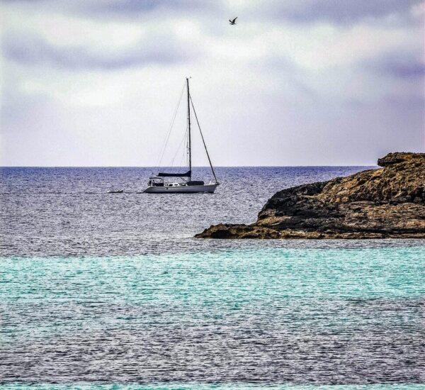 Zona costera en Formentera en Baleares