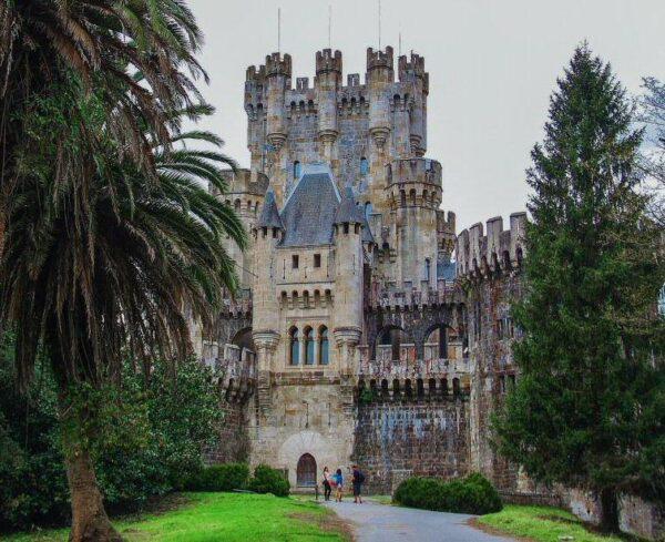 Castillo de Butrón cerca de Bilbao