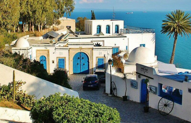Rincón de Sidi Bou Said en Túnez